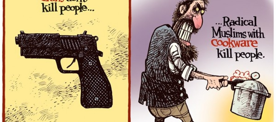 Radical Muslim Cookware (Cartoon)