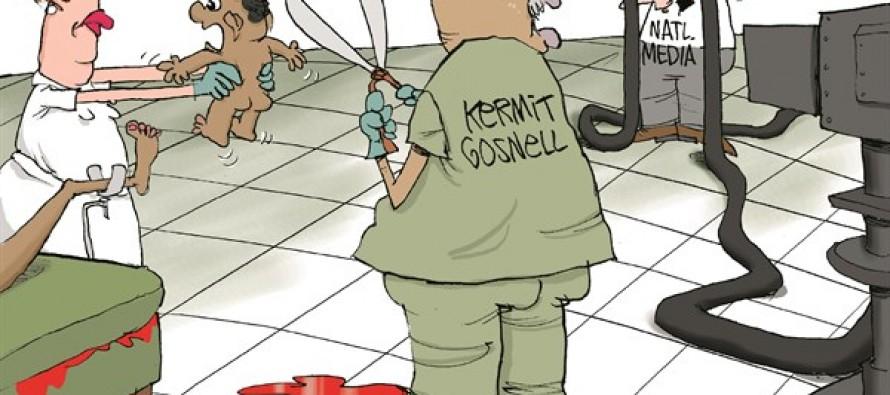 Media Ignores Abortion Trial (Cartoon)