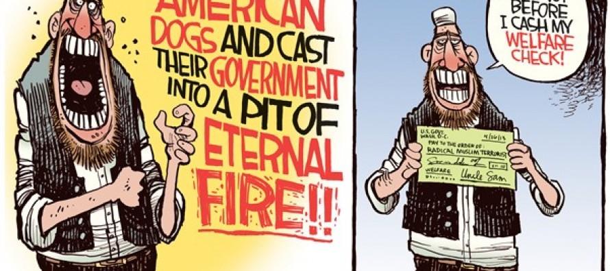 Terrorist Welfare (Cartoon)