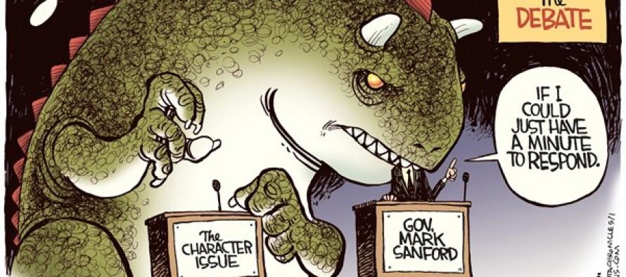 Sanford Debate (Cartoon)