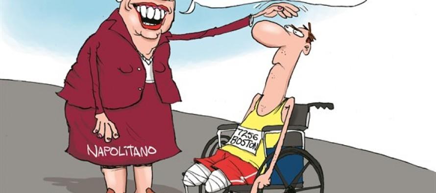Napolitano's Boston Blunder (Cartoon)