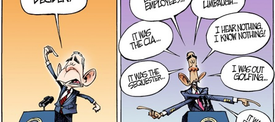 Obama Scandals (Cartoon)