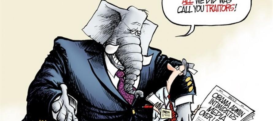 GOP and the Press (Cartoon)