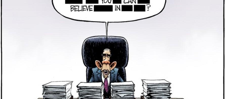 Redacted Obama (Cartoon)