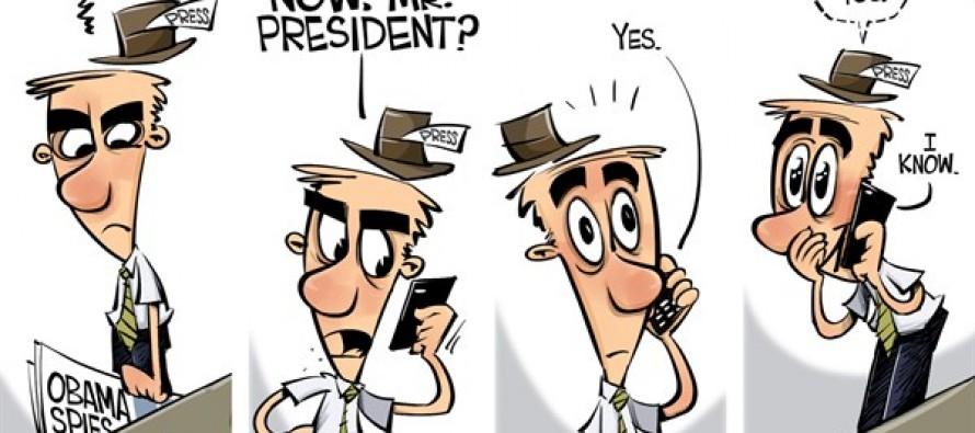Obama spies on us (Cartoon)