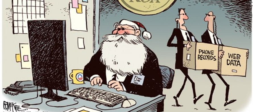 NSA Santa (Cartoon)