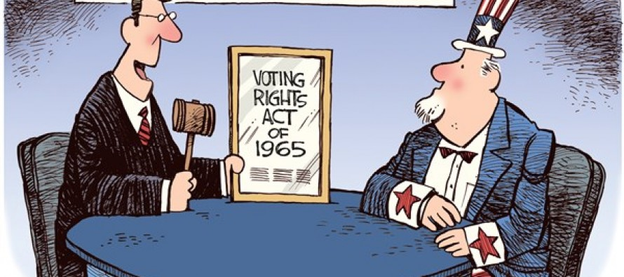 Voting Rights Act (Cartoon)