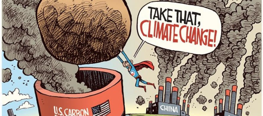 Obama Climate Plan (Cartoon)