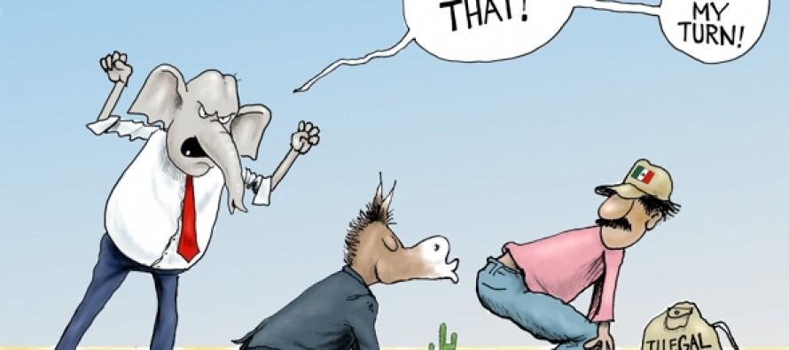 Political Kiss Up (Cartoon)