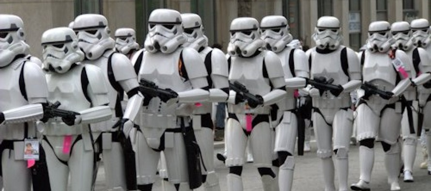Environmental Task Force Storm Troopers Pointlessly Drive Customers Out of Restaurant
