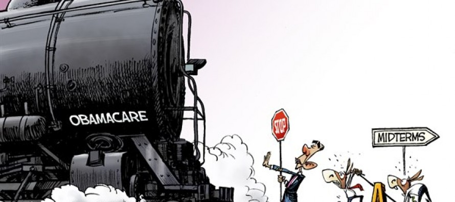 Obamacare Train (Cartoon)
