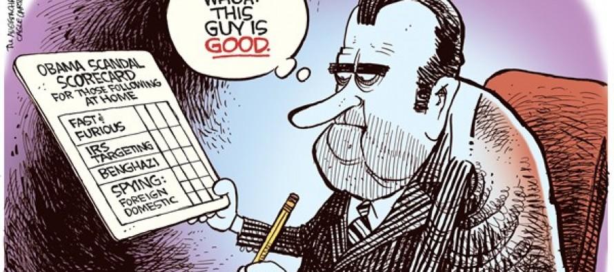 Obama Scorecard (Cartoon)