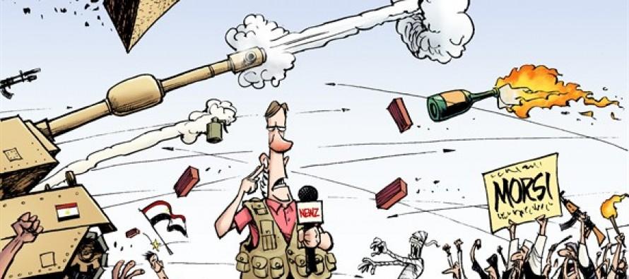 Egypt and Zimmerman (Cartoon)