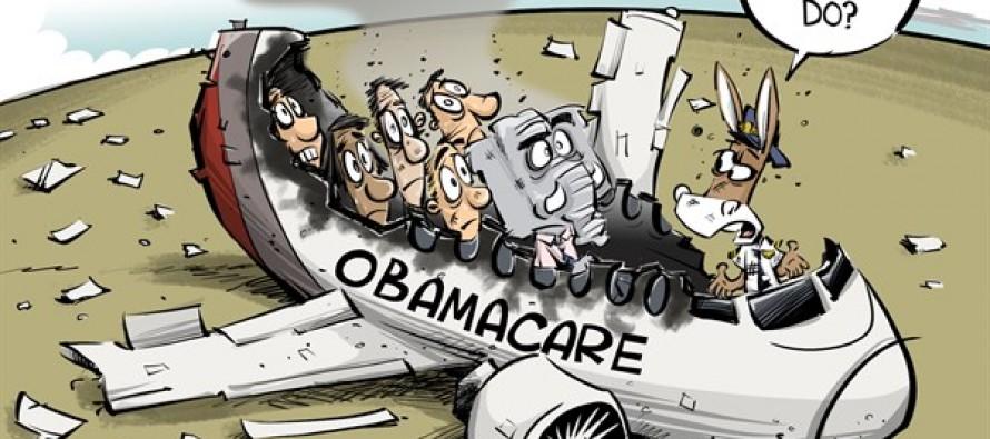 Obamacare crash (Cartoon)