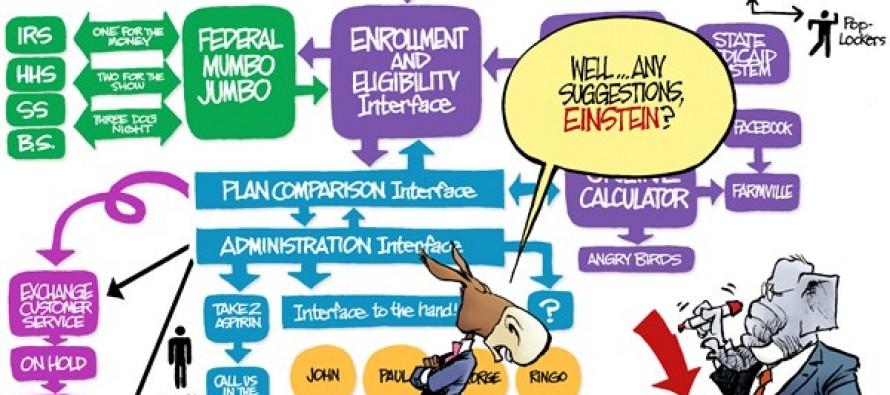 Obamacare Flowchart (Cartoon)