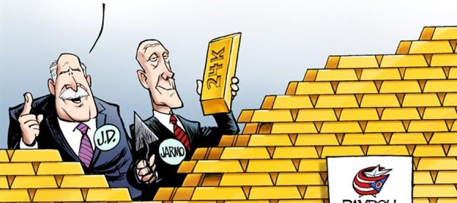 Blue Jackets Payroll (Cartoon)