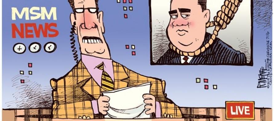 Zimmerman Lynched (Cartoon)
