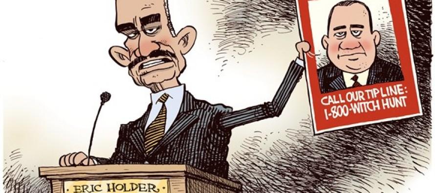 Holder Witch Hunt (Cartoon)