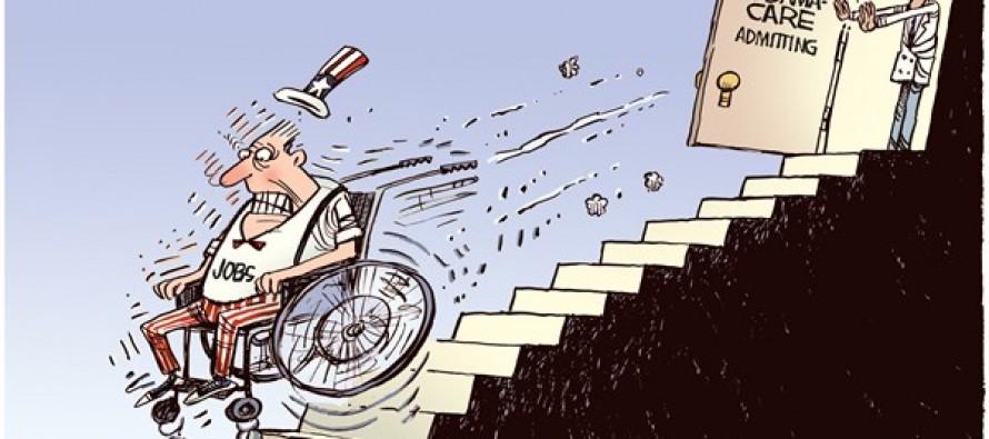 Obamacare Hurts Jobs (Cartoon)