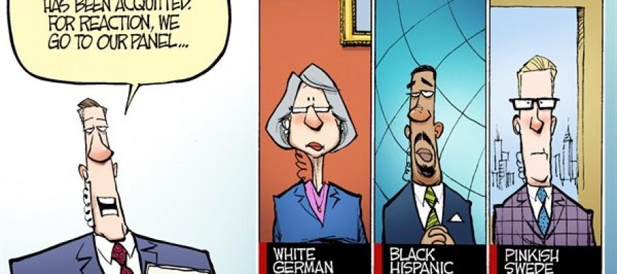 Zimmerman and Race (Cartoon)