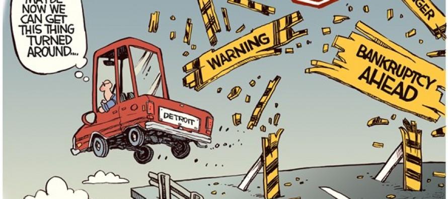 Detroit Bankruptcy (Cartoon)