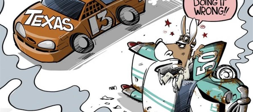 Texas vs Detroit (Cartoon)