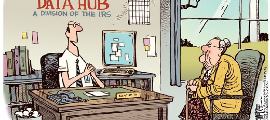 Obamacare Data Hub (Cartoon)