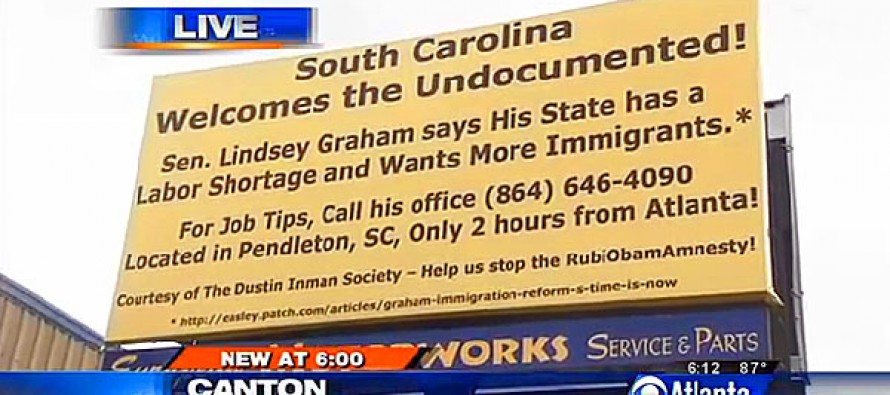 SCATHING BILLBOARD Slams Lindsey Graham For Being Pro-Amnesty