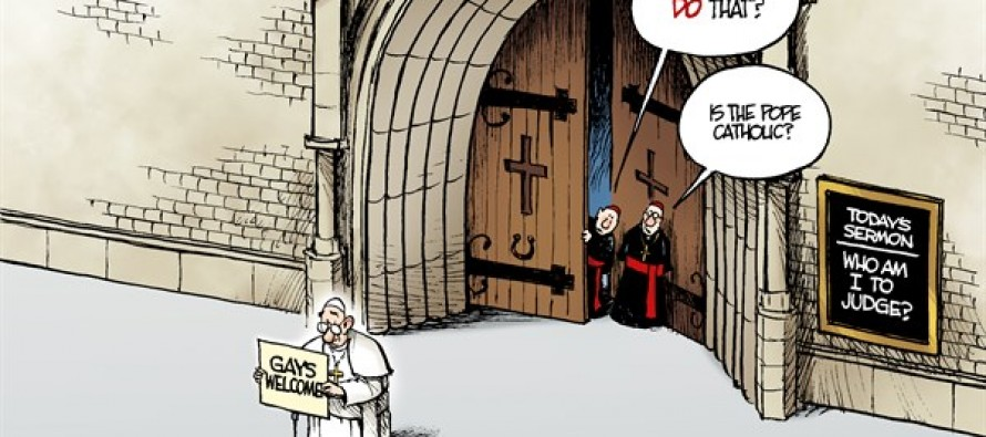 The Pope and Gays (Cartoon)