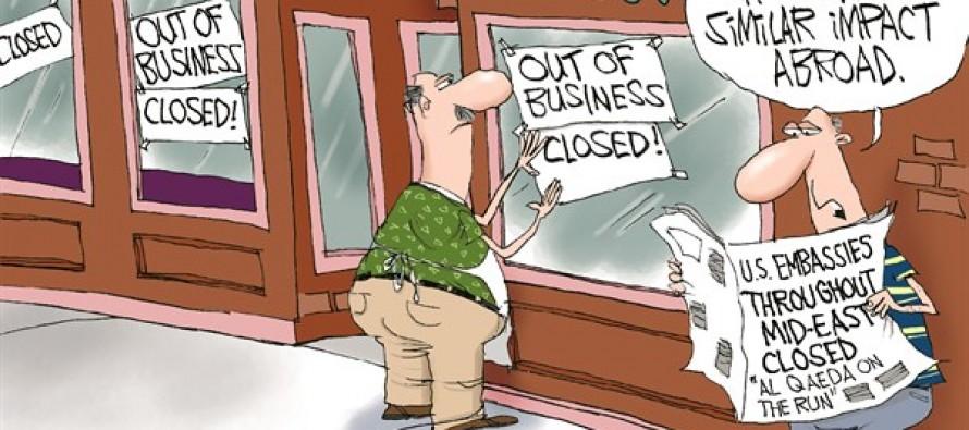 Embassies Closed (Cartoon)