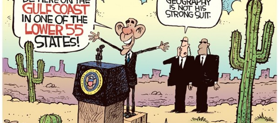 Obama Gulf Gaffe (Cartoon)