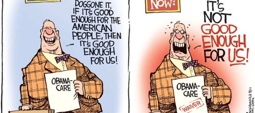 Congress Obamacare Waiver (Cartoon)