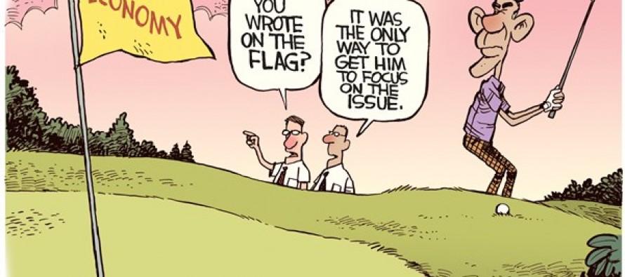Obama's Focus (Cartoon)