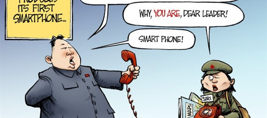 North Korea Smartphone (Cartoon)