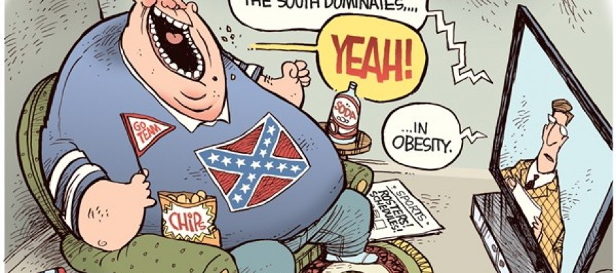 Obese South (Cartoon)