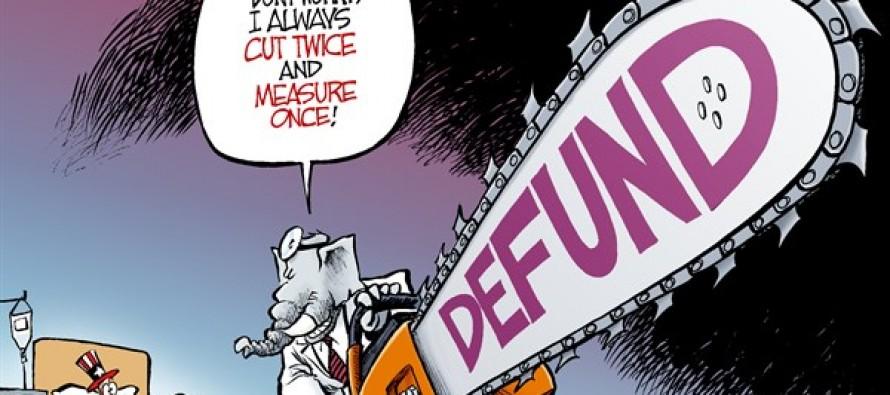 Defund Obamacare (Cartoon)