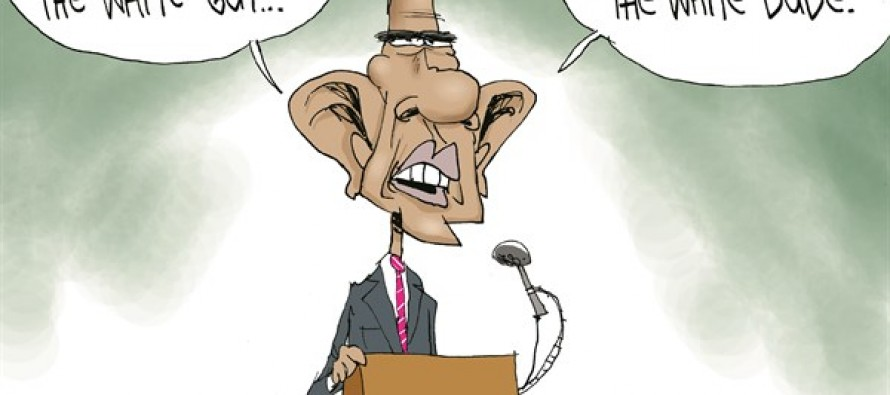Obama's Black-Crime Silence (Cartoon)
