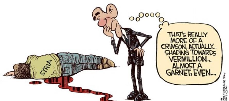 Obama Red Line (Cartoon)