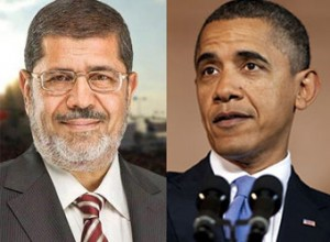 Egyptian President Mohamed Morsi of the Muslim Brotherhood, Obama's BFF