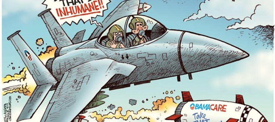Obama Bombs Syria (Cartoon)