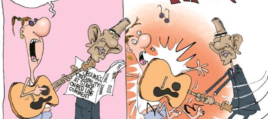Obama's Anti-Peace (Cartoon)