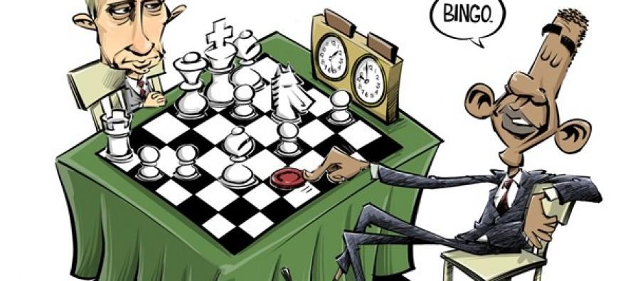 Putin vs Obama (Cartoon)