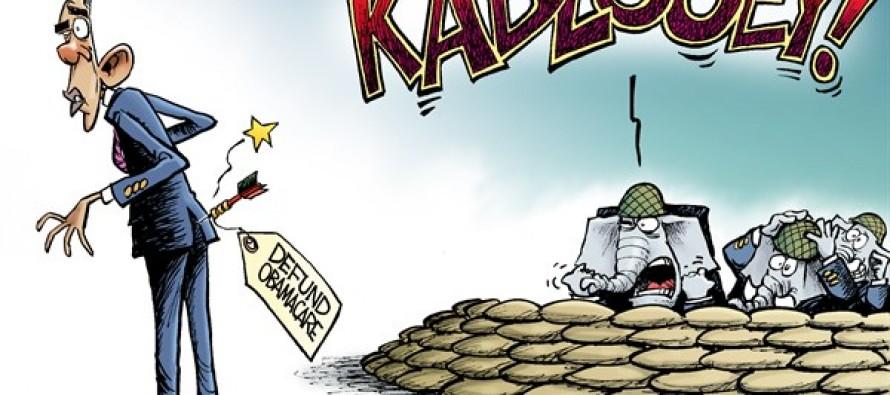Defunding Obamacare (Cartoon)