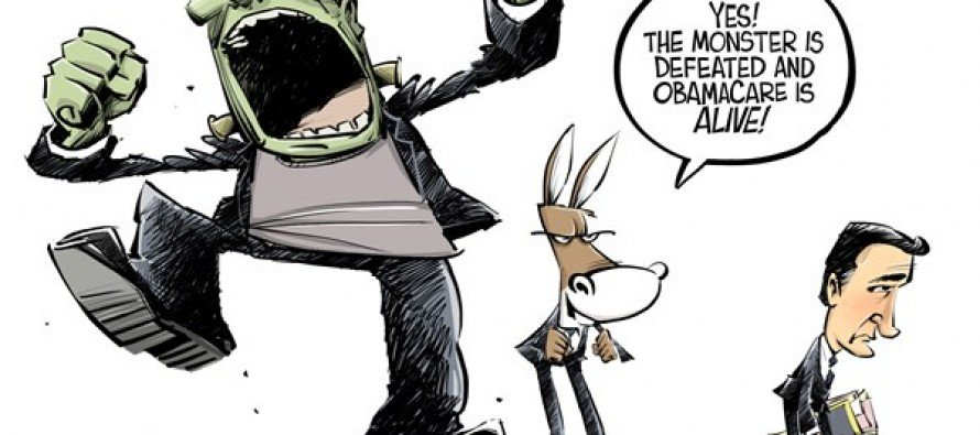 Cruz is defeated (Cartoon)