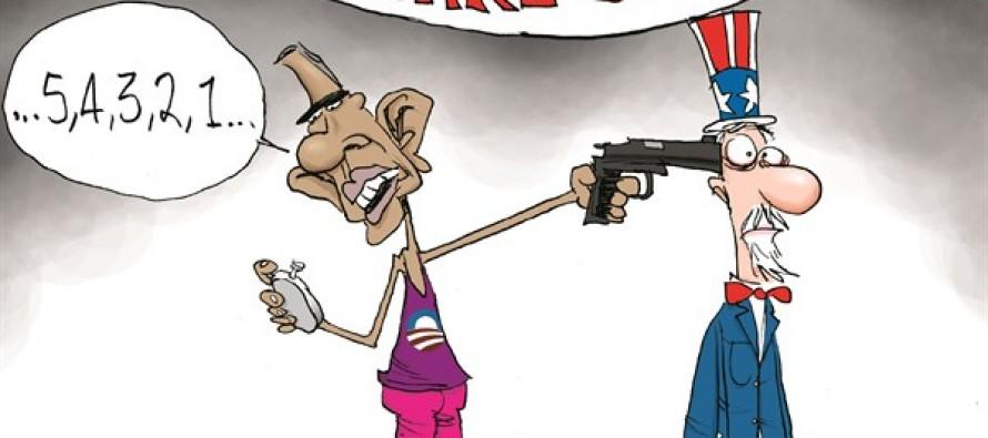 ObamaCare Starts (Cartoon)