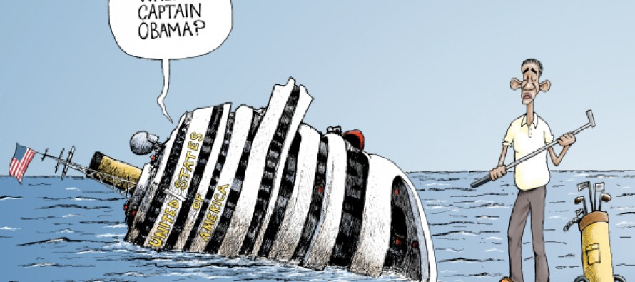 "Friday Past Blast Cartoon ""Where's Obama"" (Cartoon)"