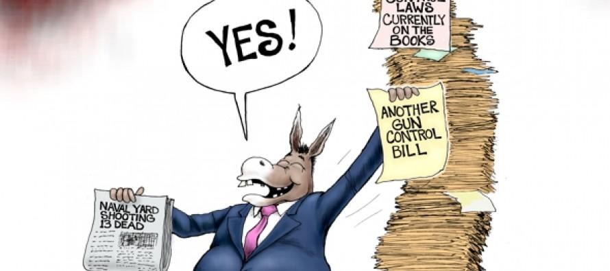 Democrats Exploit Naval Yard Tragedy (Cartoon)