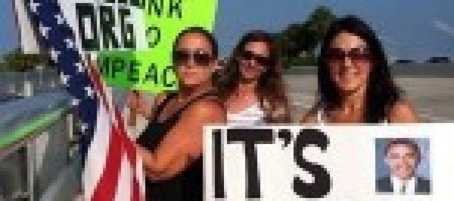 Overpasses for Obama's Impeachment To Support Trucker Protest Designed To Shut Down DC