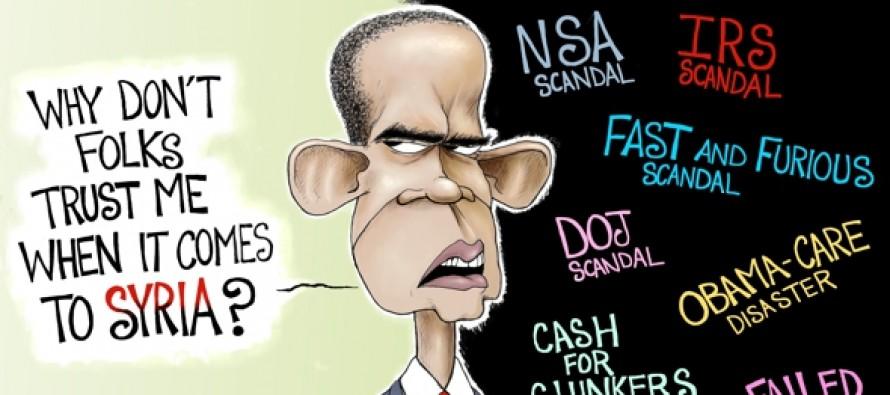 Obama Trust But Verify (Cartoon)
