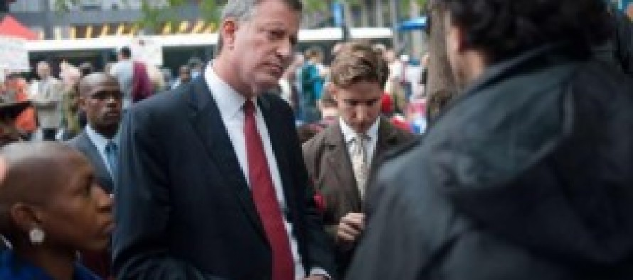 Bill De Blasio ducks Occupy Wall Street anniversary to hide his radicalism from New York Voters